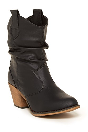 Charles Albert Women's Modern Western Cowboy Distressed Boot with Pull-Up Tabs