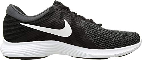 Nike Women's Revolution 4 Running Shoe, Black/White-Anthracite, 9.5 Regular US