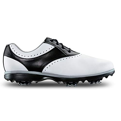 FootJoy Women's Emerge-Previous Season Style Golf Shoes White 8 M Black, US
