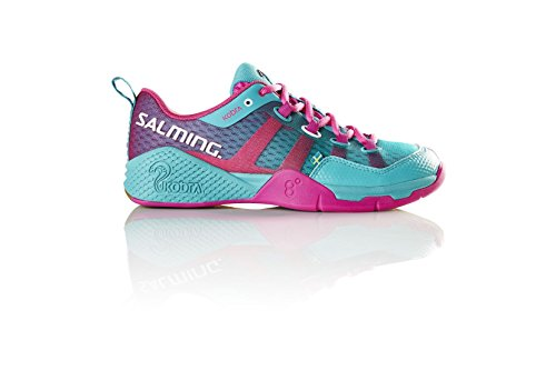 Salming Women?€s Kobra Indoor Squash Shoes, Turquoise, UK6.5