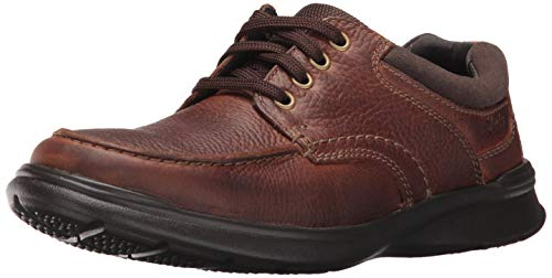 Clarks Men's Cotrell Edge Oxford, Tobacco Oily Leather, 12 M US