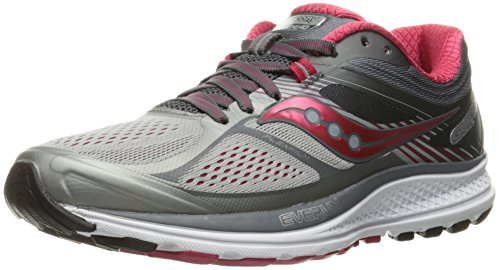 Saucony Women's Guide 10 Running Shoe, Silver | Berry, 5 M US
