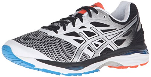 ASICS Men's Gel-Cumulus 18 Running Shoe, White/Silver/Black, 11 M US