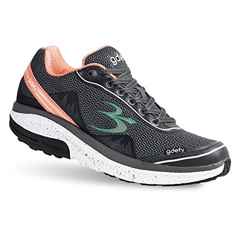 Gravity Defyer Proven Pain Relief Women's G-Defy Mighty Walk Salmon Gray Athletic Shoes 6 M US - Women's Walking Shoes for Heel Pain, Foot Pain and Plantar Fasciitis