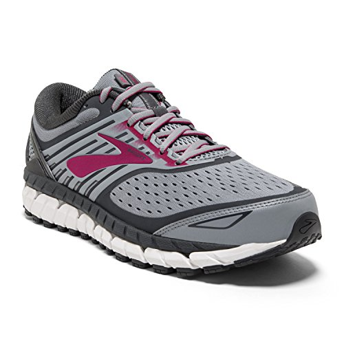 Brooks Womens Ariel '18 - Grey/Grey/Pink - 6.0 - B Medium