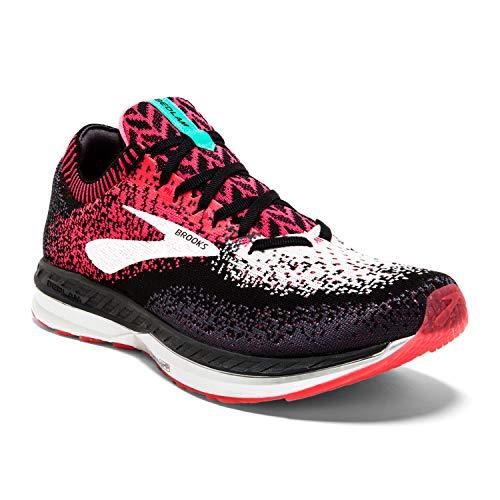 Brooks Womens Bedlam Running Shoe - Pink/Black/White - B - 8.5