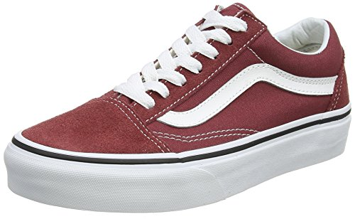 Vans Unisex Adults' Old Skool Trainers, Red (Apple Butter/True White Q9S), 7.5 UK 41 EU