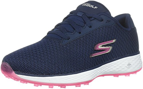 Skechers Performance Women's Go Golf Birdie Golf Shoe, Navy/Pink Mesh, 7.5 W US