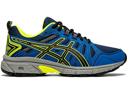 ASICS - Kids Gel-Venture 7 GS Shoes, Size: 6 M US Big Kid, Color: Black/Safety Yellow
