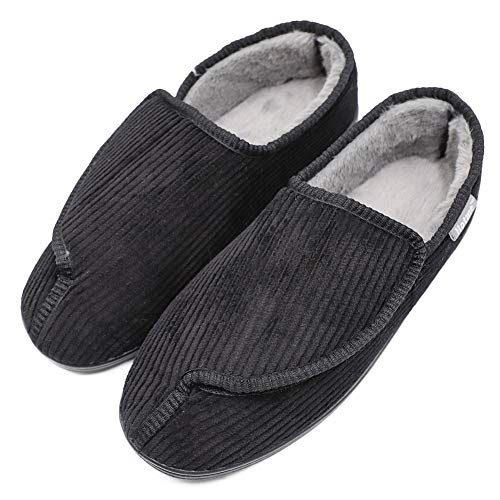 Mens Diabetic Slippers Arthritis Extra Wide Closed Toed Edema Shoes Swollen Feet