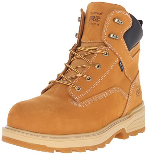 Timberland PRO Men's 6 Inch Resistor Comp Toe Waterproof INS Work Boot, Wheat Tumbled Full Grain Leather, 13 M US