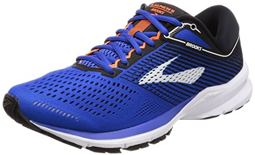 Brooks Mens Launch 5 - Blue/Black/Orange - D - 8.0