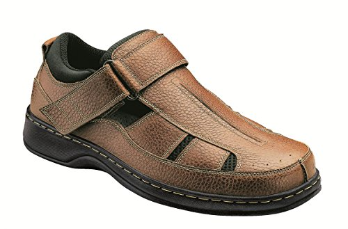 Orthofeet Proven Pain Relief. Extended Widths. Orthopedic Diabetic Arch Support Men's Sandals, Melbourne Brown