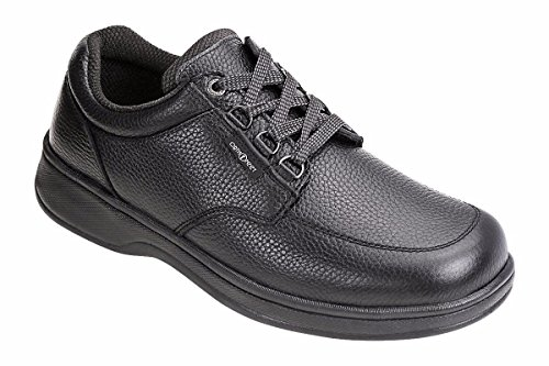 Orthofeet 410 Men's Comfort Diabetic Therapeutic Extra Depth Shoe: Black 9 Wide (2E) Lace