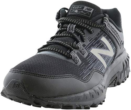 New Balance Men's 410 V6 Trail Running Shoe, Black/Black, 7 M US