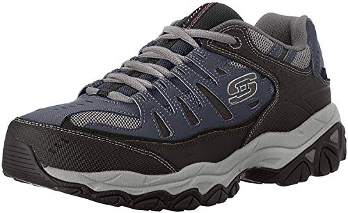 Skechers Men's AFTER BURN M.FIT Memory Foam Lace-Up Sneaker, Navy, 12 4E US