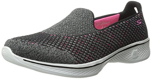 Skechers Performance Women's Go Walk 4 Kindle Slip-On Walking Shoe,Black/Hot Pink,7.5 M US
