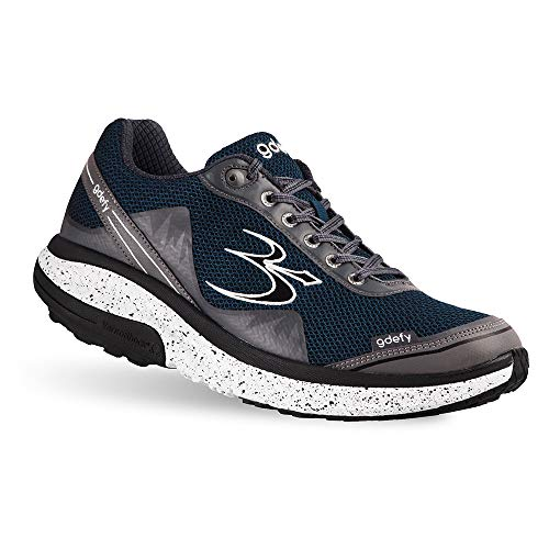 Gravity Defyer Men's G-Defy Mighty Walk Blue Gray Athletic Men's Walking Shoes 12 M US - Recovery Pain Relief Shoes for Heel Spurs, Foot Pain Shoes for Plantar Fasciitis