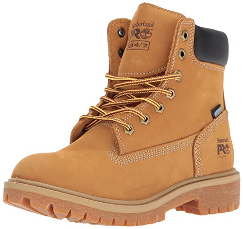 Timberland PRO Women's Direct Attach 6' Steel Toe Waterproof Insulated Industrial & Construction Shoe, Wheat Nubuck Leather, 8 M US