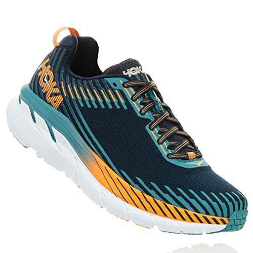 HOKA ONE ONE Men's Clifton 5 Running Shoe Black Iris/Storm Blue 11