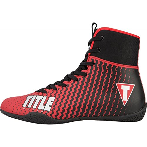 Title Predator II Boxing Shoes, Red/Black, 8