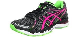 Asics Women's Gel Kayano 19 - Heel Supporting Running Shoes for Plantar Fasciitis