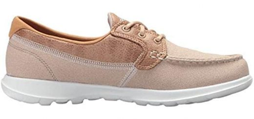Skechers Performance Women's Go Walk Lite-15430 Boat Shoe,natural,5 M US 6 of 6